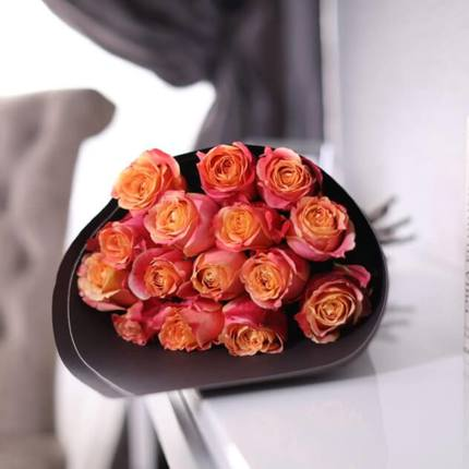 Букет из 15 роз 3D (Эквадор)