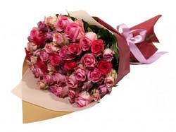 Букет из 51 розы микс (Эквадор)