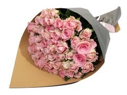 Букет из 51 розовой розы (Россия)