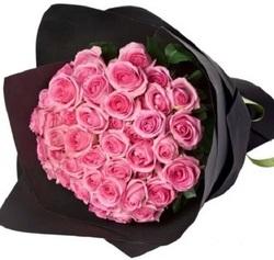 Букет 51 розовая роза 70 см (Россия)