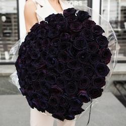 """Букет """"101 черная роза"""""""