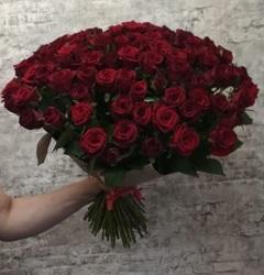 """Букет """"101 роза Гран При"""" 40 см (Россия)"""