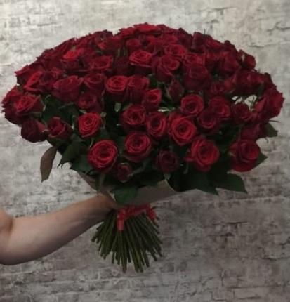 """Букет """"101 роза Гран При"""" 50 см (Россия)"""
