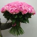 101 розовая роза 60 см (Эквадор)