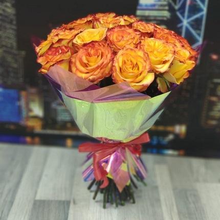 """Букет """"25 огненных роз"""" 40 см (Эквадор)"""